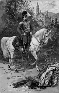 King Ludwig II in uniform of the Chevauleger Regiment
